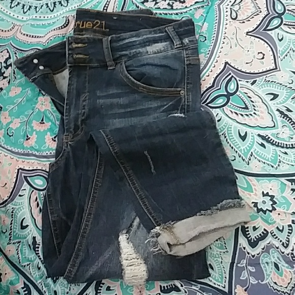 Rue21 Denim - RUE21 Distressed Denim Sz. 14
